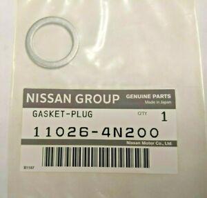 GENUINE OEM Nissan Infiniti Drain Plug Washer Gasket Drain Plug (11026-4N200)