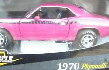 1/18, 1970 Plymouth Cuda AAR , moulin rouge , with american mags