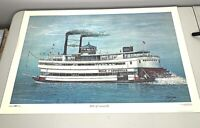 Don Ensor Lmt Ed Belle Of Louisville Print Signed 426 of 500 Paddlewheel Boat