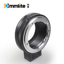 Commlite Nikon Nikkor Lens To Sony E/FE NEX mount adapter with 8 stop aperture
