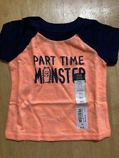 "New listing okie dokie orange navy ""Part time monster"" T shirt - 3 m - NWT"