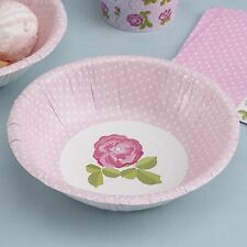 8 x Vintage Rose Party Bowls Dessert Dishes Pretty Floral Design Shabby Chic