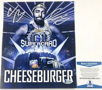 ROH Wrestling Cheeseburger Autographed 8X10 Photo Signed WWE NXT AEW Beckett COA
