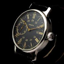 ZENITH Vintage Men's Wrist Watch Men Black Mecanical Mens Wristwatches Swiss