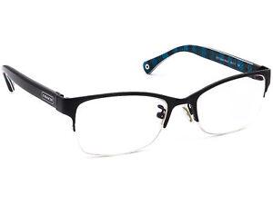 Coach Eyeglasses HC 5038 Montana 9077 Satin Black Half Rim Frame 50[]17 135
