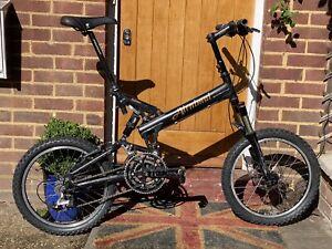 Airnimal rhino Black foldable Mountain Bike 24 gears Disc & Caliper brakes