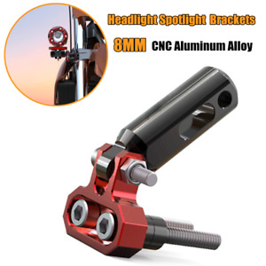 8mm Aluminum Motorcycle Modified Bumper Shock Spotlight Extension Pole Bracket