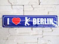 I Love Berlin Bär Strassenschild Blechschild Metall Schild 46 cm