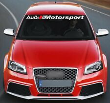 For AUDI MOTORSPORT VINYL STICKERS Bumper Windshield BANNER JDM DECAL Graphic