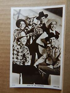 Picturegoer film postcard W 512 Sons of the pioneers unposted .