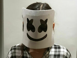 2 pcs Kids Marshmallo DJ Mask Head Halloween Scary Mask Bar Music Halloween
