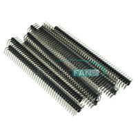 3PCS 2 x 40 Pin 2.54mm Male Double Row Right Angle Pin Header Strip