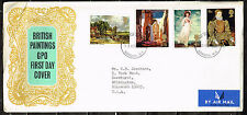 UK Art British Famous Paintings 1963 FDC
