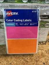 New Listingavery Color Coding Labels 1 12x 2 34 42ct 6719 New