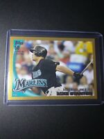 2010 Topps Update US-327 Mike Stanton Rookie Debut Card Gold Parallel #1069/2010