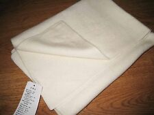 Pure Cashmere Wool Baby Kids Thick Blanket Rug Fleece Throw- White -27'*35'inch