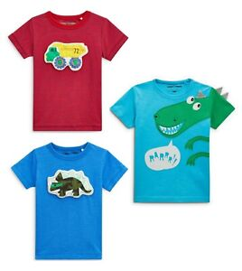Next Baby Boy Cute 3 Pack Bright Animal Character Tops Age UP TO 1 Month 10lbs