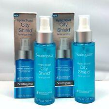 Neutrogena Hydro Boost City Shield Facial Gel Mist 3.3fl.oz./100ml New; LOT OF 2