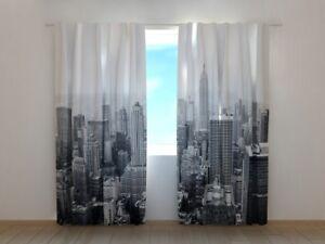 "Fotogardinen ""New York"" Vorhang 3D Fotodruck, Fotovorhang, Maßanfertigung"