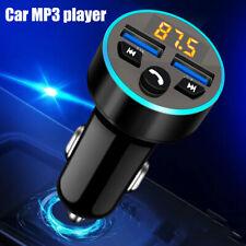 FM Transmitter Bluetooth Auto Radio Adapter USB KFZ Freisprechanlage LED NEU