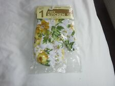 SINGLE OVEN GLOVE MITTS FLORAL DESIGN 100% Cotton New & Sealed