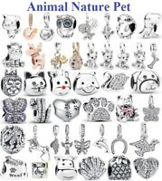 Genuine 925 Sterling Silver ANIMALS & PETS Clear Charms for Charm Bracelet NEW