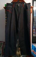 South Pole Mens Jeans Black Men's Hip Hop Urban Skulls Size 38 baggy .