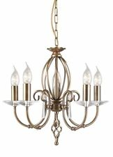 Elstead Lighting Aegean 5 Light Chandelier Aged Brass