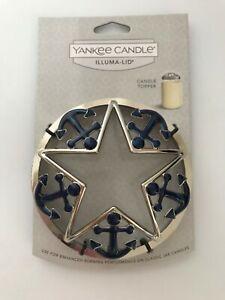 NEW Yankee Candle Illuma-Lid - Blue Anchors - Port