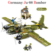 559pcs Germany Ju-88 Bomber Military Army Airplane for Custom Lego Minifigure