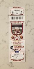 Florida St Seminoles Syracuse Football Ticket 11/16 2013 Homecoming State Stub