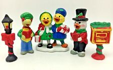 Vintage Suzys Zoo Christmas Carolers Figurines Suzy Ducken Corky Turtle