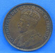 1913 Large Penny King George V Canadian One Cent Coin Canada