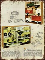 "1944 Firestone Ground Grip Tractor Tires Farm Cowboy Metal Sign 9x12/"" A347"