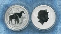 2014 $1 1oz Silver Year of the Horse ex Perth Mint Australia