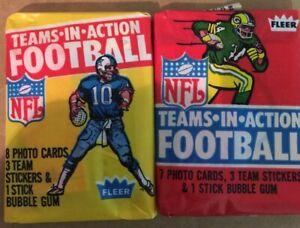 1980 & 1981 FLEER *NFL TEAMS-IN-ACTION FOOTBALL* SEALED WAX PACK