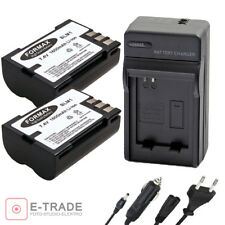 2x BATTERY 1600mAh + CHARGER -- Formax for OLYMPUS PS-BLM1 PSBLM1 PSBLM 1 BLM