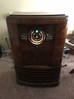 1939 Zenith 9s367 Antique Radio Robot Dial Working
