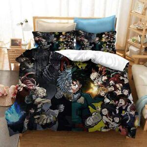 My Hero Academia deku 3PCS Bedding Set Duvet Cover Pillowcase Comforter Cover