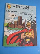VERBOSH JUDGES GUILD (D&D/Dungeons & Dragons) 1979