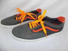 Vans Off The Wall Logo LXVI Skateboard Shoes Gray & Orange Men's Size 13