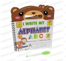 ABC ALPHABET LEARNING BOOK PRE SCHOOL HANDWRITING PRACTICE WIPE CLEAR HANDLE PEN