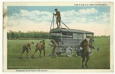 US Army Cantonment Wireless Auto Truck Outfit Military Postcard