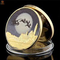 2019 Santa Claus and Snowman Deer Gold Plated Christmas Gifts Commemorative Coin