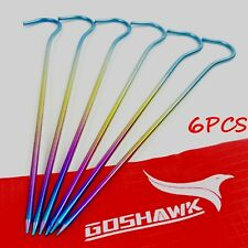 Goshawk 6 Pcs Titanium Outdoor Camping Backpacking Tent Peg Ground Nail UL 5g