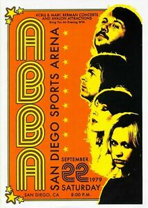 Abba 1979 Concert BAND Music Rock Vintage Advert Print Poster Wall Picture A4 +