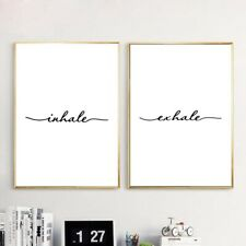 Exhale Inhale Pain Poster Modern Canvas Painting Yoga Wall Decal Art Prints