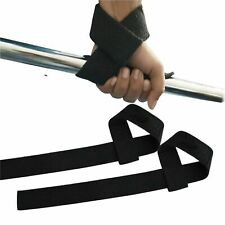 5x Padded Gym Straps Wrist Support grip Braces Gift Weight lifting Hook Cuffs
