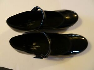 Dance Dancewear TAP Shoes Girl Sz 2 1/2 Black Patent Mary Janes by ABT