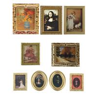 Vintage Fotomalerei Wandwandbild Für 01.12 Miniatur Puppenhaus